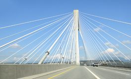 Port-Mann-Brücke Vancouver lizenzfreie stockfotos