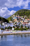 Manzanillo Mexico. The port of Manzanillo, Mexico and colorful houses Stock Photography