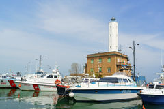 Port of Marina di Ravenna, Italy Stock Image