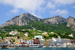 The port of Marina Grande on the island of Capri Stock Photos