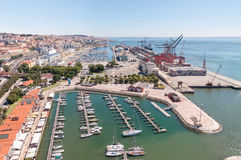 Port and marina in Lisbon Stock Photography