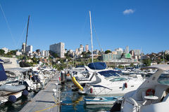 Port or marina of Salvador de Bahia in Brazil. Royalty Free Stock Photo