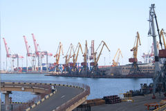 Port maritime à Odessa, Ukraine Images stock
