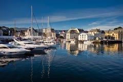 Port maritime d'Alesund, Norvège Photo stock