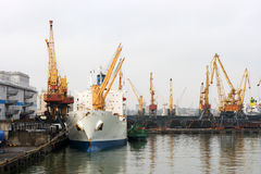 Port maritime d'Odessa Photo stock