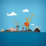 Port maritime de cargaison Images stock