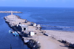 Port maritime de Gaza Photo stock