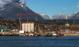 Port maritime de la ville du nord de Vancouver photographie stock