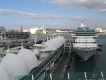 port maritime de Miami Photos libres de droits