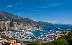 Port maritime de Monte Carlo Photo libre de droits