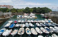 Port maritime de mundaka Photos libres de droits
