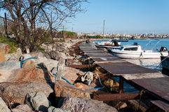 Port maritime de petit bateau Image libre de droits