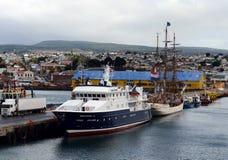 Port maritime de Punta Arenas au Chili photographie stock