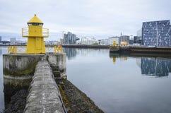 Port maritime de Reykjavik images stock