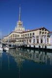 Port maritime de Sotchi Photographie stock libre de droits