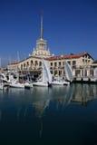 Port maritime de Sotchi Images libres de droits