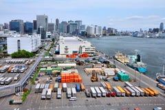 Port maritime de Tokyo Images libres de droits