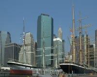 Port maritime du sud de la rue de Manhattan Images stock