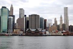 Port maritime du sud de la rue de New York City Photos stock