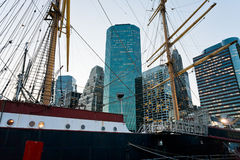 Port maritime du sud de rue à New York Photographie stock