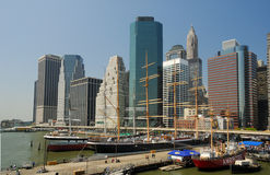 Port maritime du sud de rue à New York Image stock
