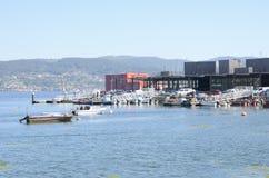 Port maritime du village de Combarro photographie stock