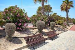 Port maritime en Espagne, MARINA DE LAS DUNAS, del Segura de Guardamar Vue de l'autre côté Photo stock