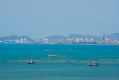 Port maritime industriel Photo libre de droits