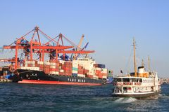 Port maritime industriel d'Istanbul Images stock