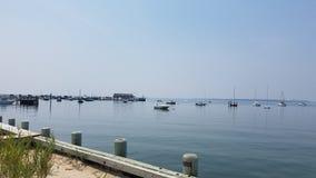 Port maritime paresseux de Hamptons photos libres de droits