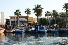 Port market Stock Photo