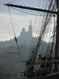 Port Marseille. Detail of Vieux Port of Marseille Stock Images