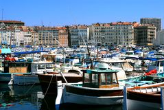 Port of Marseille in France Royalty Free Stock Photos