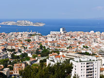 Port of Marseille France and the If castle Royalty Free Stock Photo