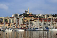 Port of Marseille, France. Port marine of Marseille, France, Europe Royalty Free Stock Images