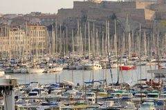 Port of Marseilles. The port of Marseilles in France Royalty Free Stock Photos