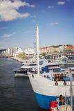 Port med färjor Royaltyfria Foton