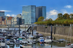 Port Medienhafen de media de l'Allemagne Dusseldorf avec Photo libre de droits