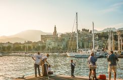 In the port of Menton Royalty Free Stock Photo