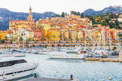 Port in Menton, France. The old port in Menton, France Stock Image