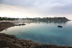 Port-Mer beach in Cancale Royalty Free Stock Photos