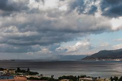 The Port of Messina in Sicily Stock Image