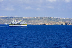 Port of Mgarr on the Gozo island at Malta Royalty Free Stock Photography