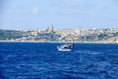 Port Mgarr na małej wyspie Gozo, Malta zdjęcia royalty free