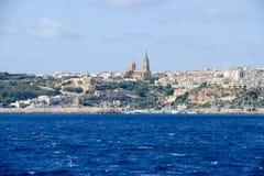 Port Mgarr na małej wyspie Gozo, Malta - obraz stock