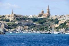 Port Mgarr na małej wyspie Gozo, Malta - fotografia royalty free