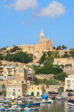 Port of Mgarr on the small island of Gozo, Malta.  Stock Photo