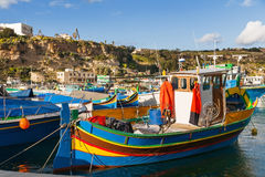 Port of Mgarr on the small island of Gozo, Malta. Stock Photography