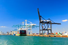 The Port of Miami Stock Images