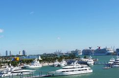 port miami Fotografia Royalty Free